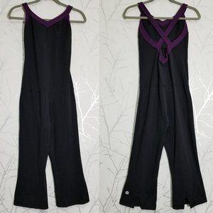 Lululemon Black Sleeveless Cross Back Jumpsuit